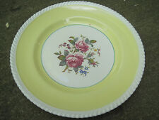 JOHNSON BROS ENGLAND FB&Co WINDSOR WARE YELLOW FLORAL/ROPE EDGE/GOLD TRIM PLATE