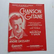 Partition chanson gitane ANDRE DASSARY   MAURICE YVAIN