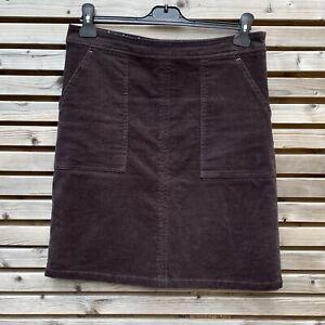 White Stuff Size 10 Coal Grey Cord Mini Skirt BNWOT Pockets