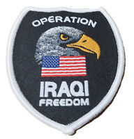 Military Patch Iraq Operation Iraqi Freedom OIF NATO Patch Eagle USA US Flag