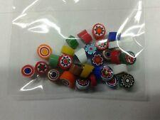 10 grammi murrine in foto murano glass millefiori multicolor past misura 6-7 mm