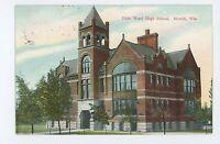 Fifth Ward High School MERRILL WI Vintage Lincoln County Wisconsin Postcard