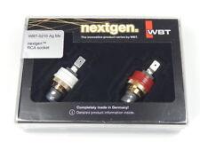 2 x WBT-0210 Ag Ms nextgen Cinchbuchse silber RCA female plug silver 0210Ag Ms
