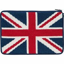 New listing Alice Peterson Needlepoint Cosmetic Purse Kit - Union Jack British Flag