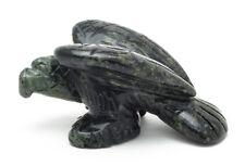 Perched Eagle Kambaba Jasper Hand Carved Gemstone Animal Totem Statue Stone