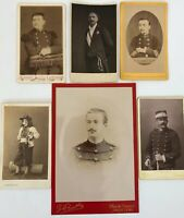 LOT 6 PHOTOS ANCIENNES OFFICIERS EN UNIFORME G BERTHE PINEAU ALFREDE ROCH G448