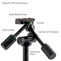 3 Way 2 Handle Video Pan Tilt Tripod Head, DV, Mount, Stand DSLR All Metal