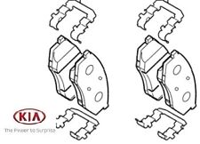 Genuine Kia Optima Front Brake Pads - 581012TA61
