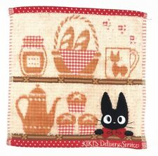 Japan Kiki's Delivery Service Black Cat Hand Face Towel Cotton 25*25cm