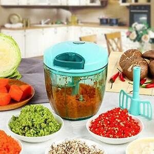 Vegetable Chopper,Cutter,Mixer for Kitchen with 5 Stainless Steel/Whisker Blade