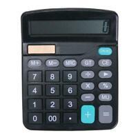 1* Solar Battery Desktop Calculator Basic 12 Digit Large Display Office Sup E0D5