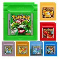 Games Pokemon GBC Series Video Cartridge Console Card Classic Nintendo Game Boy