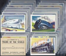 UNIVERSAL AUTOMATICS-FULL SET- TRAINS OF THE WORLD (X30 CARDS) - EXC+++