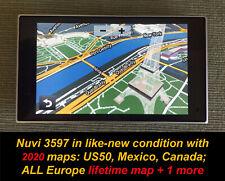 Garmin NUVI 3597 + 2020! maps Europe Lifetime Maps, US,MEX,CANADA,  +1 map