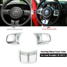 Chrome Steering Wheel Trim Cover For Jeep Wrangler Jk Compass Patriot 2011 2016 Fits 2012 Jeep Patriot
