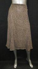 JH COLLECTIBLES Brown/Black Print Mesh Pull-On Gored Midi A-Line Skirt sz XL