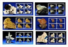 2011 MINERALS ROCKS 10 SOUVENIR SHEETS MNH UNPERFORATED