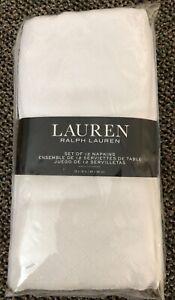 NEW Ralph Lauren Set of 12 Napkins White Cream 18 x 18
