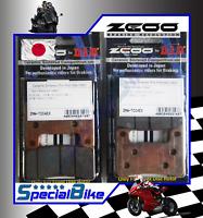 SUZUKI GSXR 600 2004 > 2010 PASTIGLIE FRENO ZCOO RACING 2 COPPIE BRAKE PADS