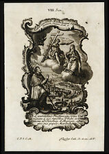 santino incisione1700 S.LORENZO GIUSTINIANI PTR.DI VENEZIA   klauber