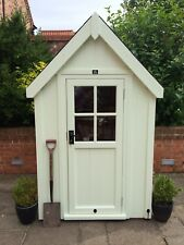 POSH SHED Luxury Garden Shed Tool Store Sentry Box Ply Lined Shingle Tile Roof