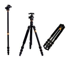 Andoer Q476Pro SLR Camera Tripod Monopod + Ball Head Max Height: 1585Mm And L...