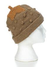 Hand Knitted Strawberry Style Winter Woollen Beanie Hat, One Size, UNISEX STH17