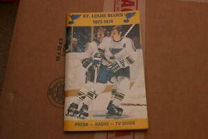1973-74 ST. LOUIS BLUES MEDIA GUIDE