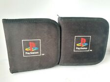 OFFICIAL PS1 PlayStation game disc case wallet holder x2