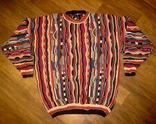 Mens XL Cotton Traders textured FRESH PRINCE cosby vtg BIGGIE Smalls BIG Sweater