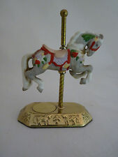 Willitts Design Ceramic Small Carousel Horse on a Metal Stand 1-1303 Group II