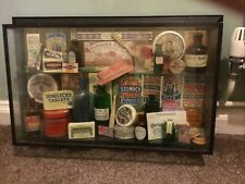 More details for pub glass display of old medicinal bottles and items from rising sun slough