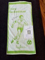 Handtuch Franz Beckenbauer signiert Autogramm Fußball  Bundesliga Deutschland
