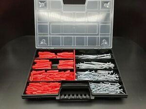 ✅TOX Tri Dübel + TX Schrauben Sortiment 338 Teilig Allzweckdübel Set im Koffer ✅