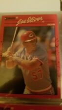 Joe Oliver Cincinnati Reds Donruss 1990 Leaf Cards Ungraded