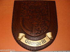 British Royal Coat of Arms King George III Heraldry Crest Wall Plaque England