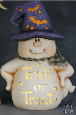 Ceramic Bisque Ready to Paint Trick or Treat Ghost~electric included