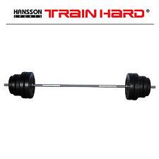 TrainHard 75 KG Langhantel Set Hantelset mit 1,8m Stange Gewicht Hantelscheiben