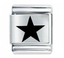 FIVE POINT STAR * Daisy CHARM 13mm Fits Nomination BIG Size Italian Charm