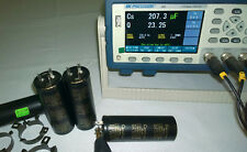 Lot of 4 Genuine Elna Cerafine 350V 220uF + 220uF Capacitors same Black Gate WKZ