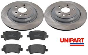 For Volvo - V60 2010-2015 (155,157) Rear 302mm Brake Discs & Pads Set Unipart