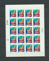 US Flag Over City 1999 Mint Never Hinged Sheet of 20 Scott #3278