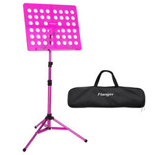 Pink Folding Music Conductor Sheet Metal Tripod Stand Holder Adjustable Height