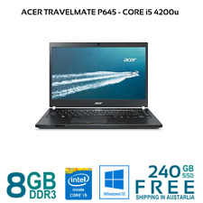 "Acer Travelmate P645 i5-4200 4/8GB RAM 500Gb HDD/240GB SSD HDMI WiFi 14"" W10"