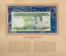 Most Treasured Banknotes Solomon Islands 2 dollar 1977 P5a UNC prefix A/2 019040