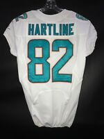 #82 BRIAN HARTLINE MIAMI DOLPHINS GAME USED WHITE AUTHENTIC NIKE JERSEY YR-2013