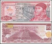 Mexico 20 Pesos Banknote, 1976, P-64c, UNC, Series-CH