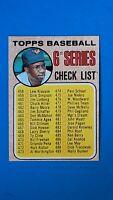 1968 TOPPS BASEBALL #454 6TH SERIES CHECKLIST FRANK ROBINSON ORIOLES EXMT