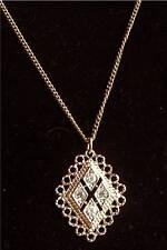 """CANDLELITE"" Rhinestone Necklace - Sarah Coventry Jewelry - Sara Cov - Vtg"