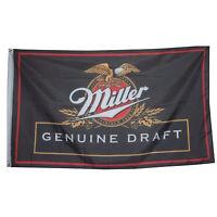 Miller genuine Draft Beer banner Flag 3' X 5' Deluxe indoor Outdoor bar man cave